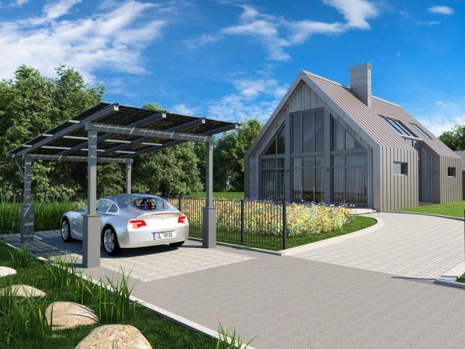 Solarcarport Stahl