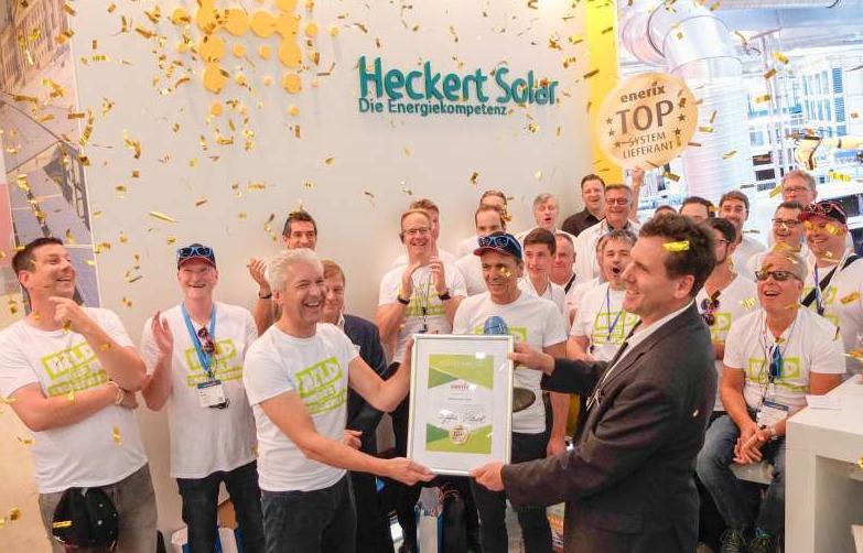 Heckert-Solar erhält Auszeichnung zum Top Systempartner 2018
