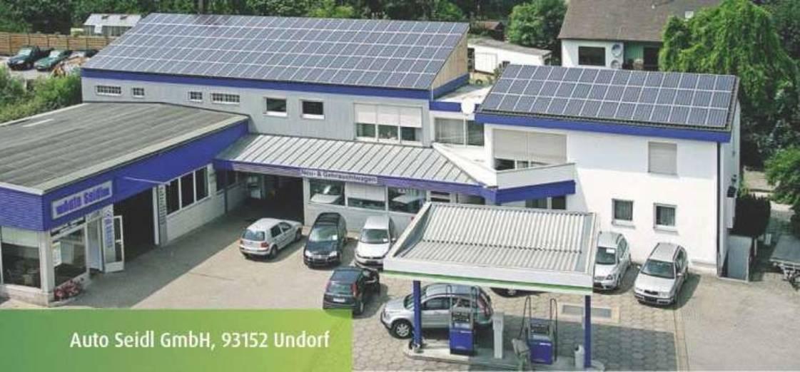 Photovoltaikanlage auf einem Gewerbegebäude