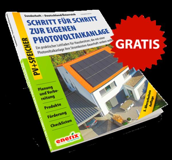 Titelseite Leitfaden für Photovoltaik und Stromspeicher Planung