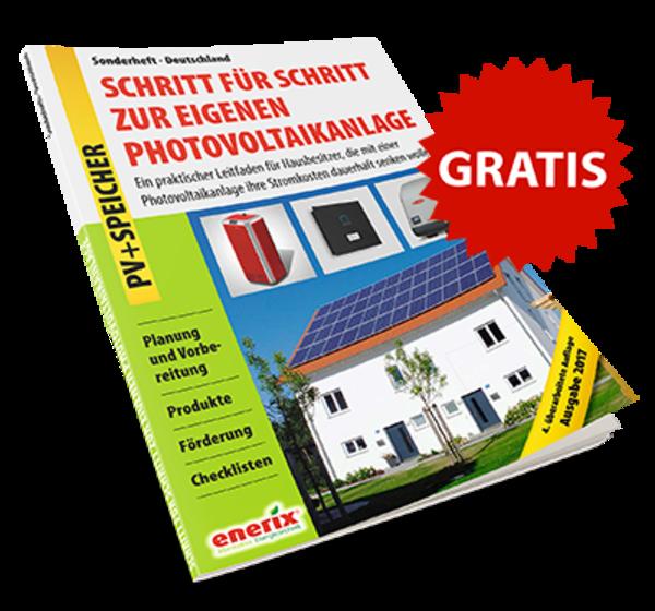 Enerix Leitfaden PV+Speicher 'Schritt für Schritt zur eigenen Photovoltaikanlage'