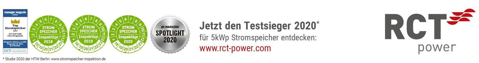 RCT Power Auszeichnungen