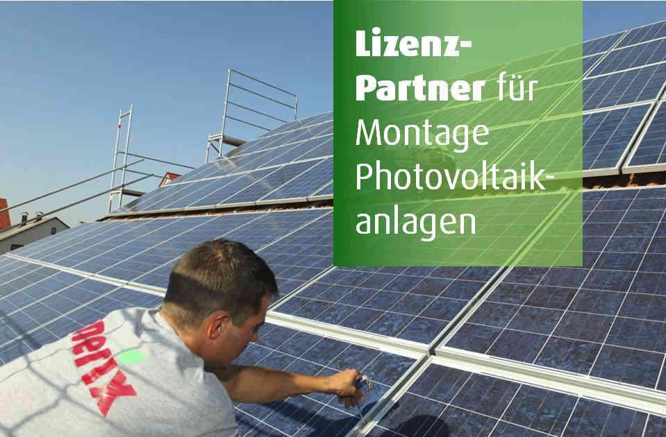 Lizenzpartner Photovoltaikmontage