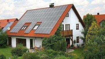 Solaranlage für ein Einfamilienhaus