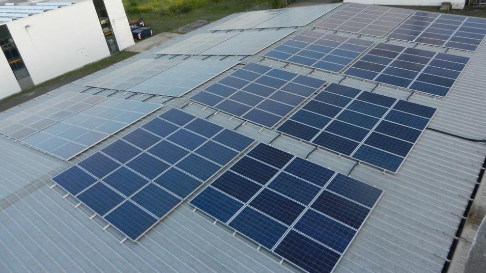Photovoltaikanlage für Unternehmen Produktion