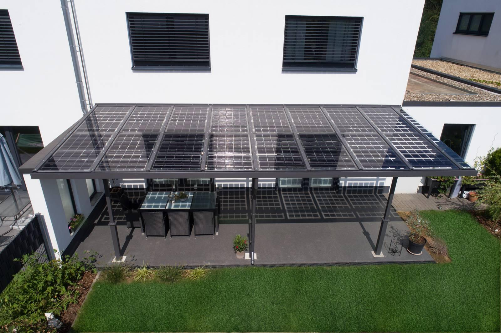 Solarterrasse aus Stahl
