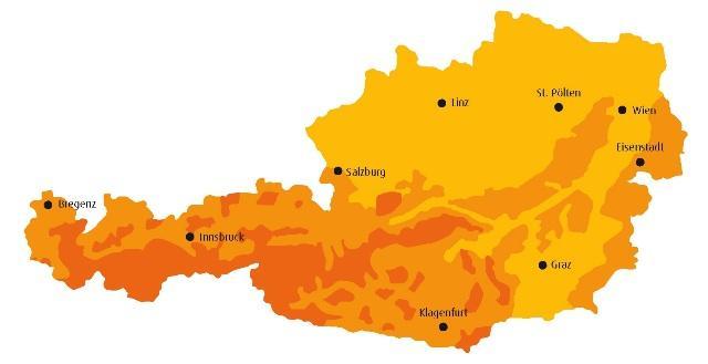 Globalstrahlungskarte Österreich