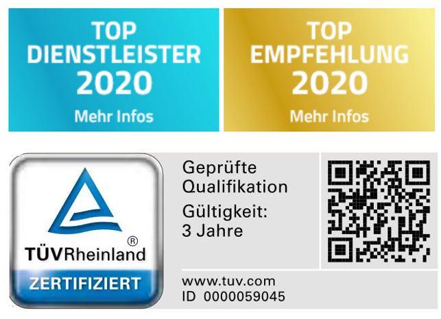 Top Dienstleister und TÜV geprüft