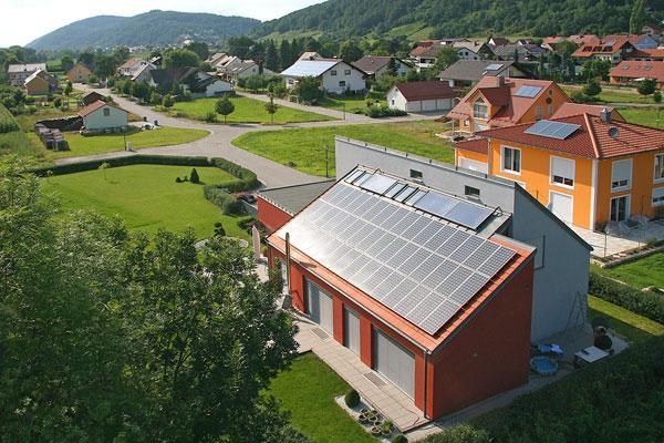 Photovoltaikanlagen auf Einfamililienhäuser