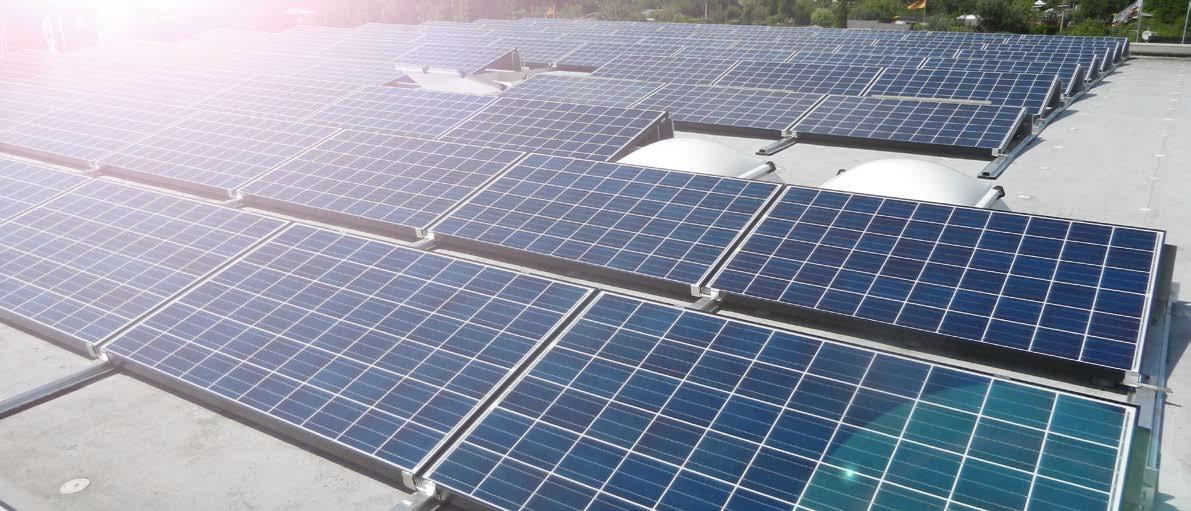 Photovoltaik für Unternehmen auf Flachdach