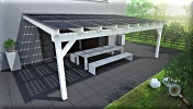 Solarterrasse Leimholz klassisch