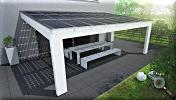 Solarterrasse Leimholz modern