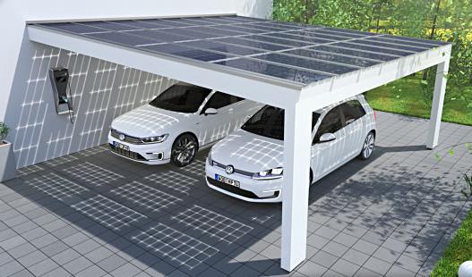 solarcarport leimholz modern
